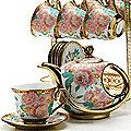 24783 Чайный набор 15пр на подставке/метал LR (х6)