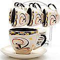 23539 Набор чайный 13пр на подставке LR (х6)