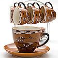 23540 Набор чайный 13пр на подставке LR (х6)