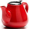 23056-5 Заварочный чайник КРАСНЫЙ 950мл керам LR (х24)