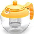 26174-2 Заварочный чайник ЖЕЛТЫЙ стекло 0.75л ситоMB(х48)