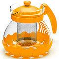 26173-2 Заварочный чайник ЖЕЛТЫЙ стекло 0,7л сито MB(х36)