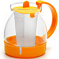 26171-2 Заварочный чайник ЖЕЛТЫЙ стекло 1,25л ситоMB(х36)