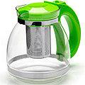 26170-3 Заварочный чайник ЗЕЛЕНЫЙ стекло 1,5л сито MB(х24)