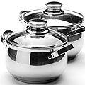 25153 Набор посуды 4пр 2,1+2,9л мет с/кр МВ (х8)