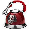 23582 Чайник мет 2,7л со свистком красный МВ (х12)