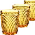 30850 Набор стаканов 300 мл 6шт ЯНТАРНЫЙ LR (х8)