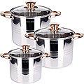 27555 Набор посуды 6пр 5,3+6,8+8,6л зол/р MB (х2)