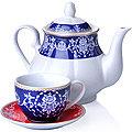 27845 Чайный сервиз 13 пр фарфор 220мл LR (х4)