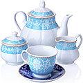 27853 Чайный сервиз 15 пр фарфор 220мл LR (х2)