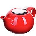 28680 Заварочный чайник керамика КРАСНЫЙ 800 мл LR (х24)